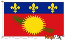 - GUADELOUPE RED ANYFLAG RANGE - VARIOUS SIZES